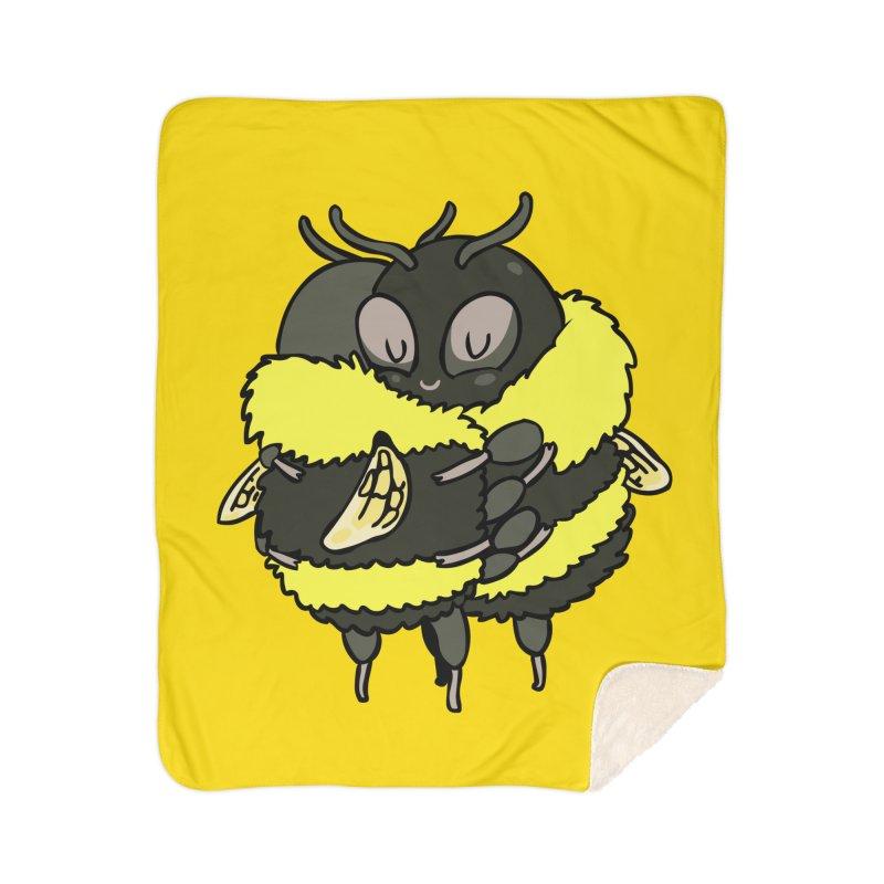 Bee hugs Home Sherpa Blanket Blanket by huebucket's Artist Shop
