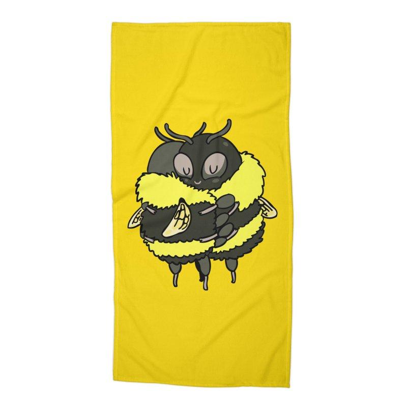 Bee hugs Accessories Beach Towel by huebucket's Artist Shop