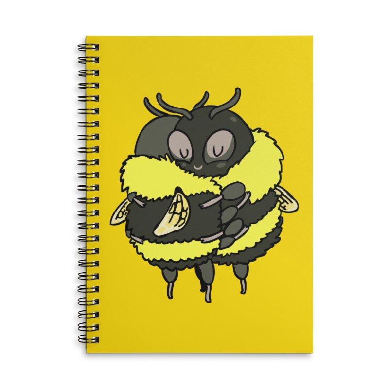 Bee hugs Accessories Lined Spiral Notebook by huebucket's Artist Shop