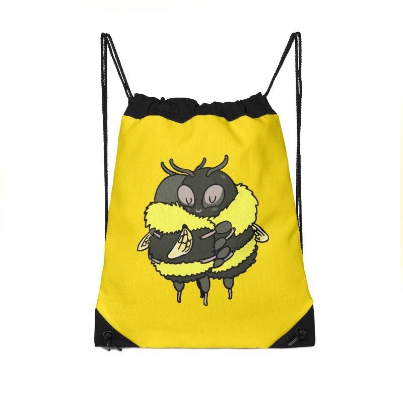 Bee hugs Accessories Drawstring Bag Bag by huebucket's Artist Shop