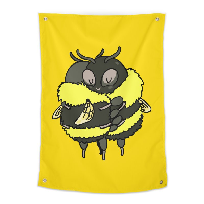 Bee hugs Home Tapestry by huebucket's Artist Shop