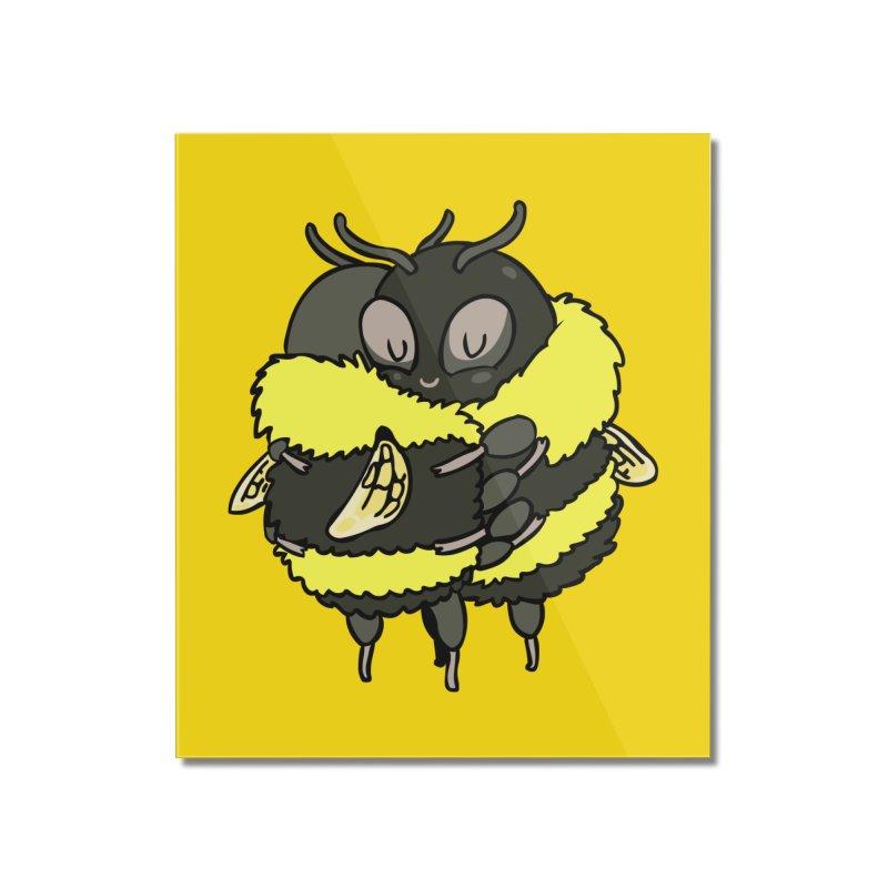 Bee hugs Home Mounted Acrylic Print by huebucket's Artist Shop
