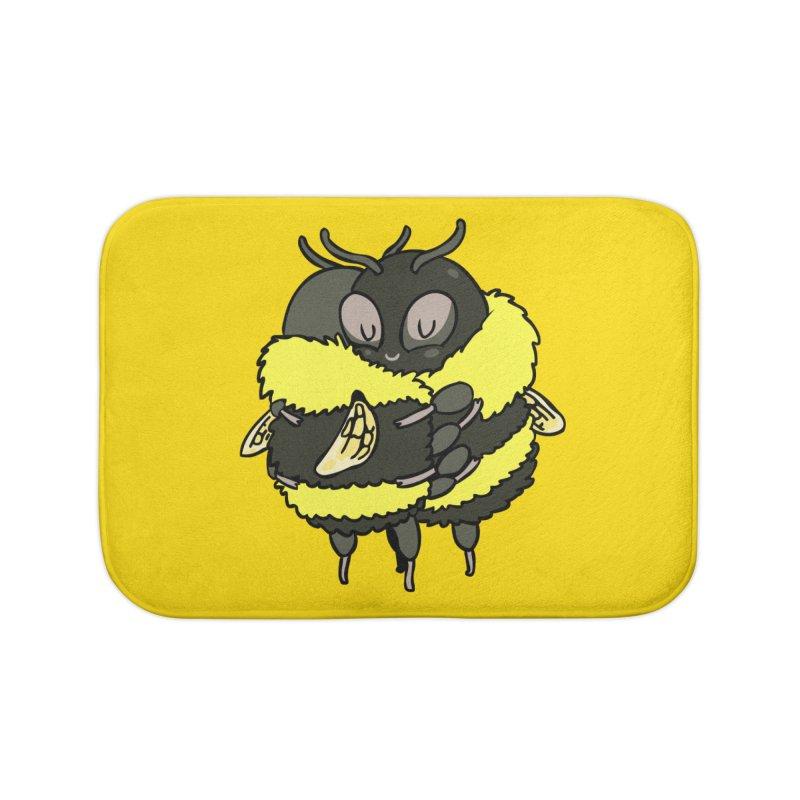 Bee hugs Home Bath Mat by huebucket's Artist Shop
