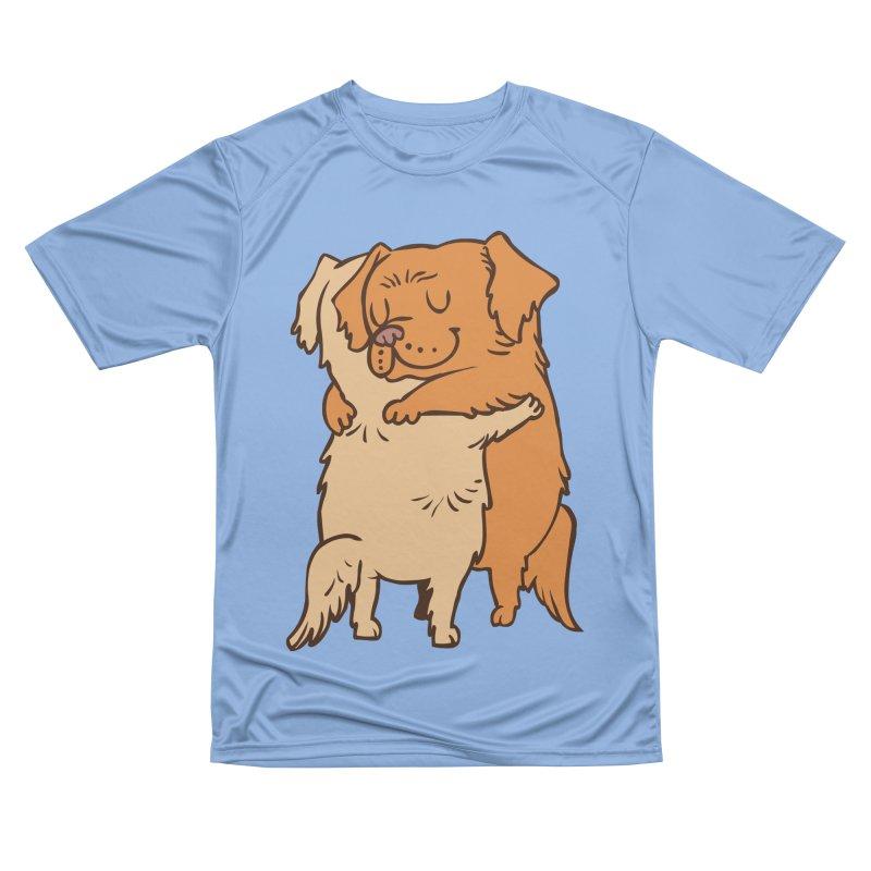 Golden Retriever hugs Men's T-Shirt by huebucket's Artist Shop