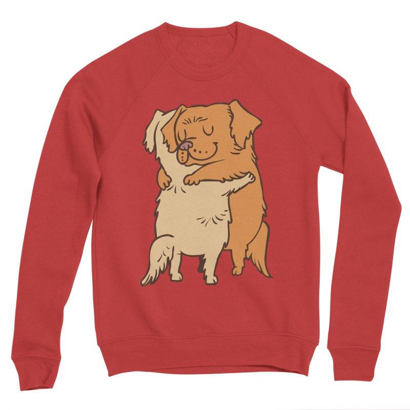Golden Retriever hugs Men's Sponge Fleece Sweatshirt by huebucket's Artist Shop