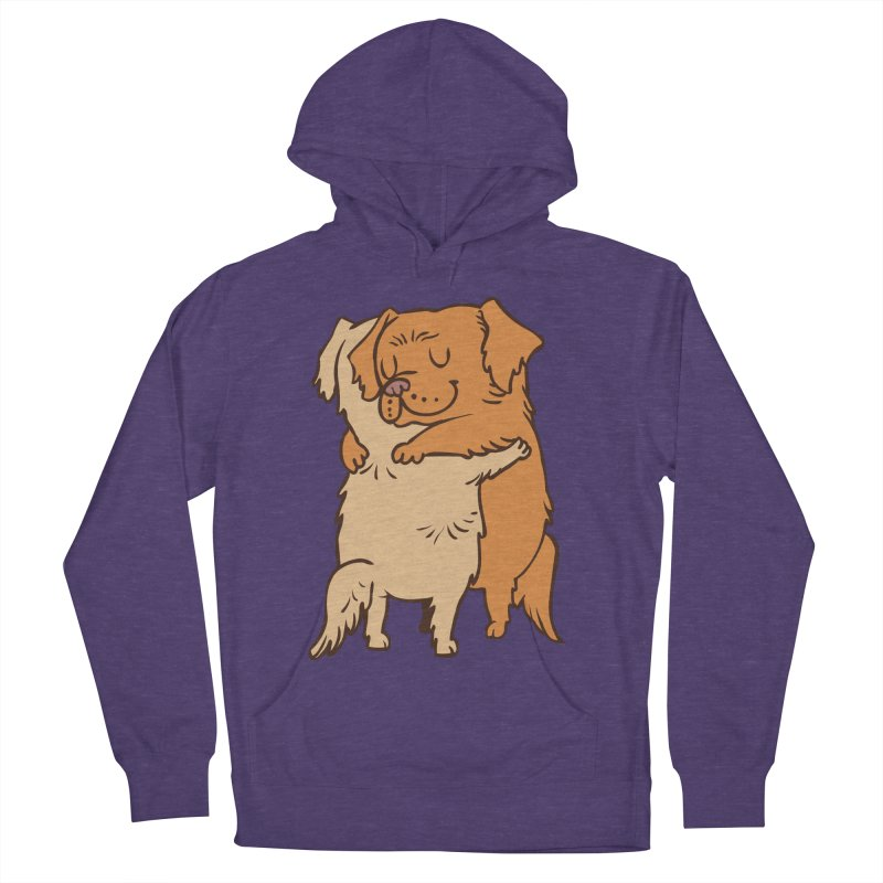 Golden Retriever hugs Men's French Terry Pullover Hoody by huebucket's Artist Shop