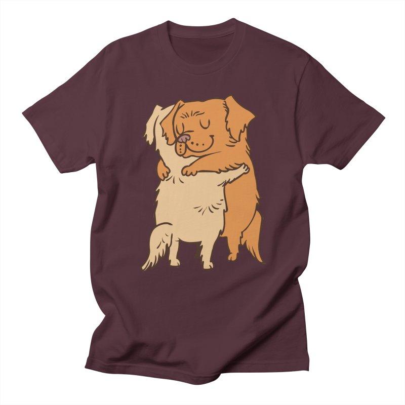 Golden Retriever hugs Women's Regular Unisex T-Shirt by huebucket's Artist Shop