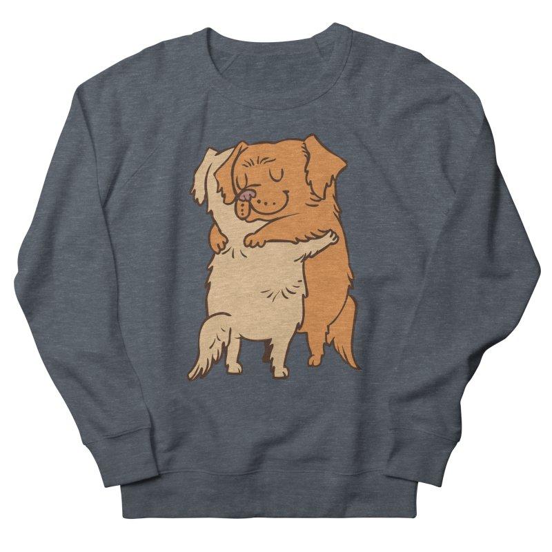 Golden Retriever hugs Men's French Terry Sweatshirt by huebucket's Artist Shop