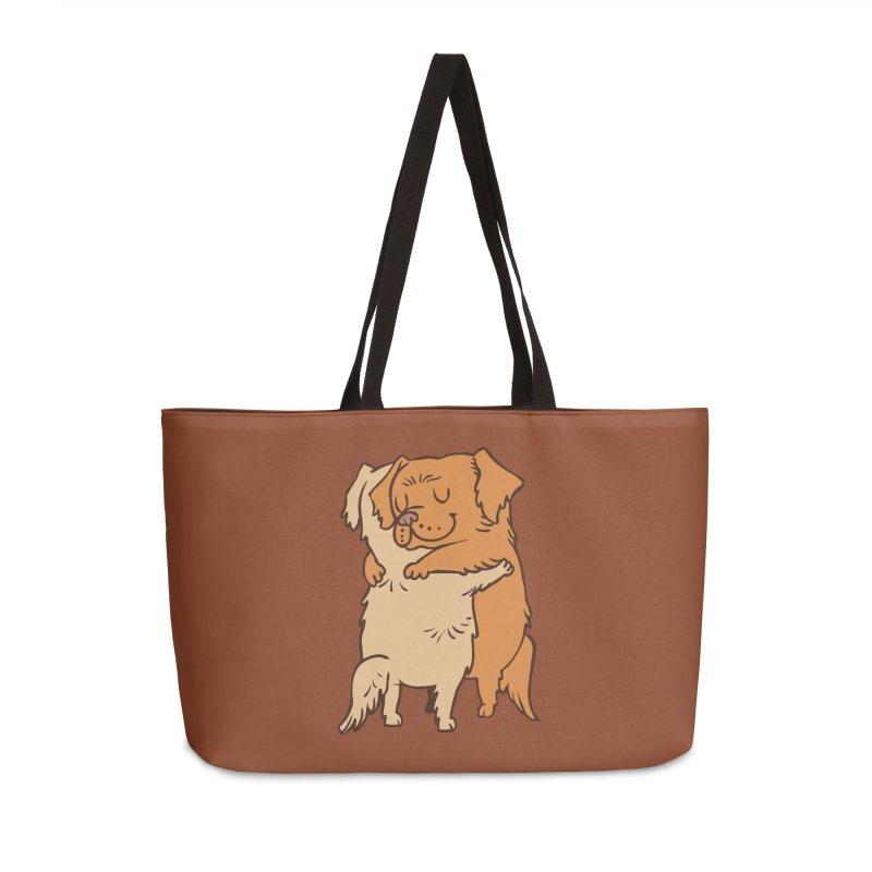 Golden Retriever hugs Accessories Weekender Bag Bag by huebucket's Artist Shop