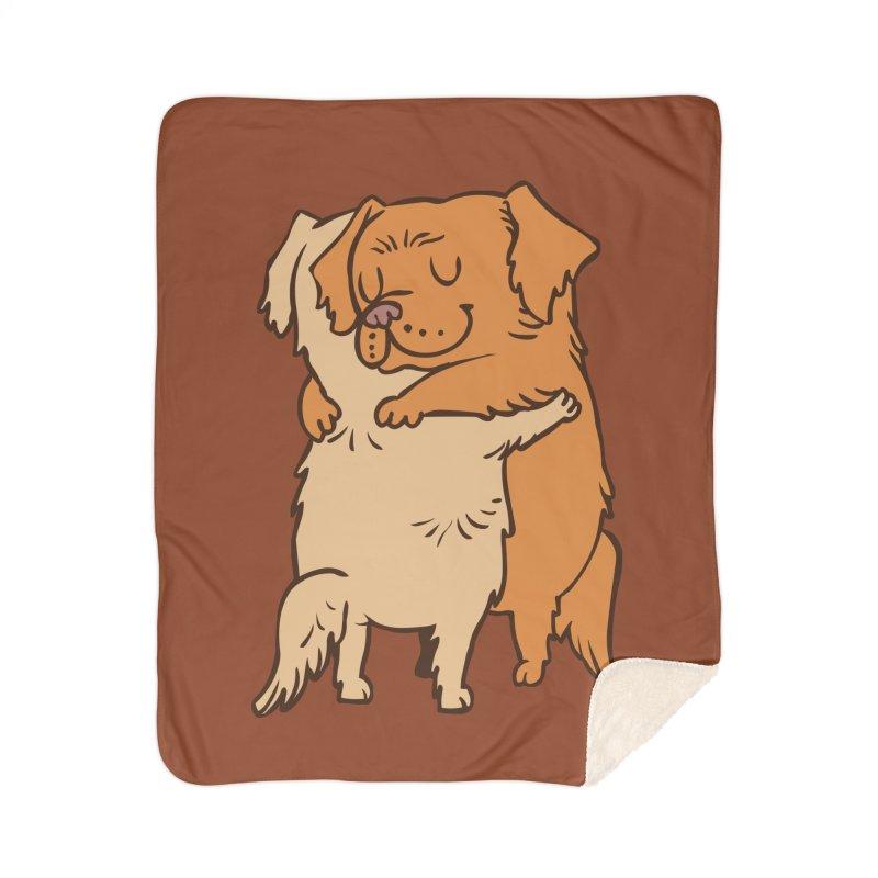 Golden Retriever hugs Home Blanket by huebucket's Artist Shop