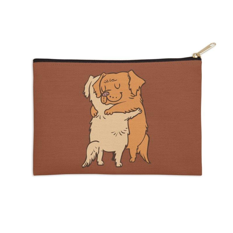 Golden Retriever hugs Accessories Zip Pouch by huebucket's Artist Shop