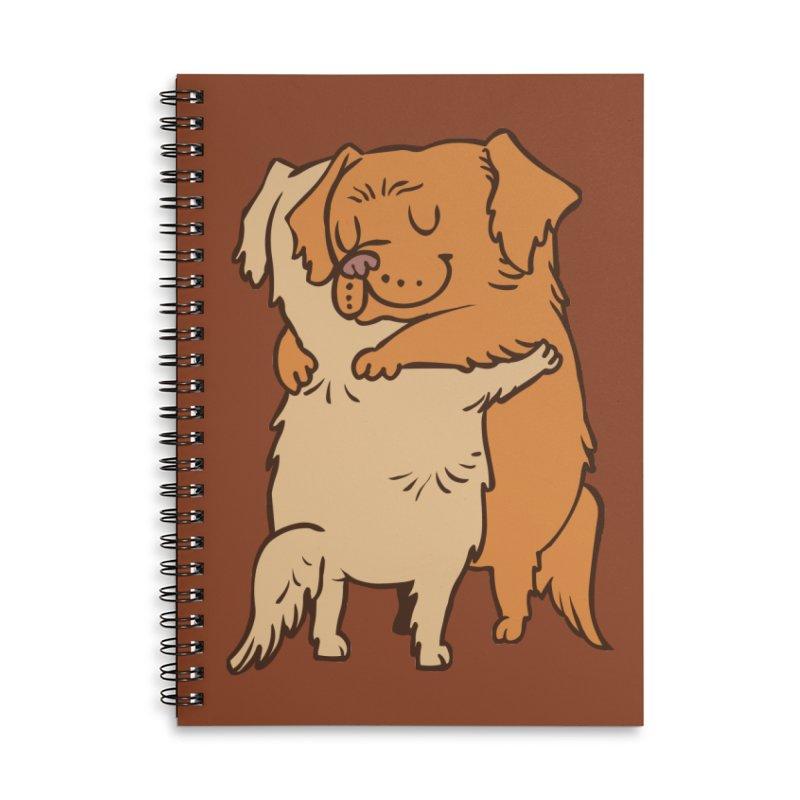 Golden Retriever hugs Accessories Lined Spiral Notebook by huebucket's Artist Shop