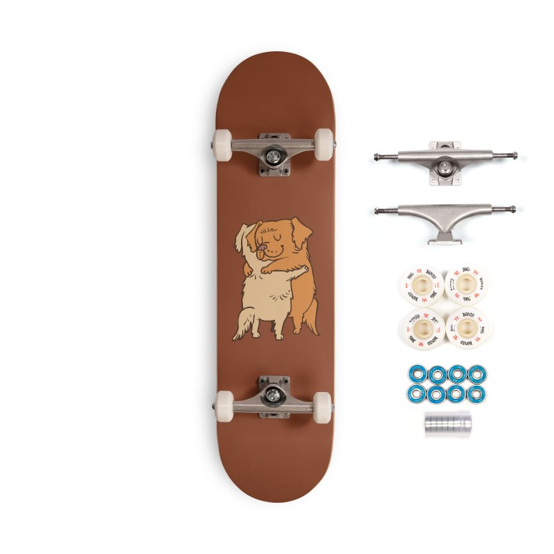 Golden Retriever hugs Accessories Complete - Premium Skateboard by huebucket's Artist Shop