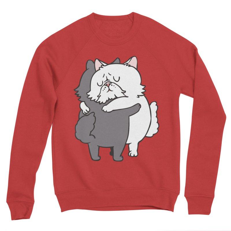 Persian Cat hugs Men's Sponge Fleece Sweatshirt by huebucket's Artist Shop