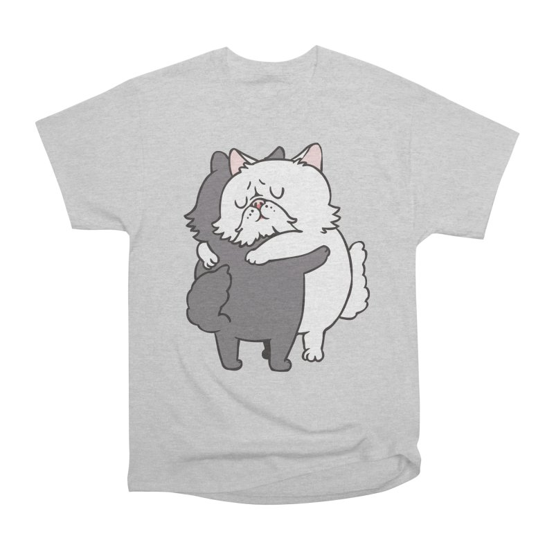 Persian Cat hugs Women's Heavyweight Unisex T-Shirt by huebucket's Artist Shop