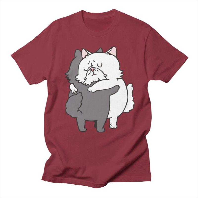 Persian Cat hugs Women's Regular Unisex T-Shirt by huebucket's Artist Shop