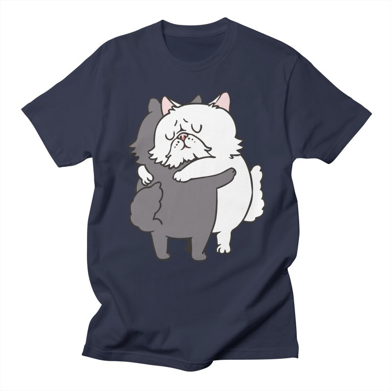 Persian Cat hugs Men's Regular T-Shirt by huebucket's Artist Shop