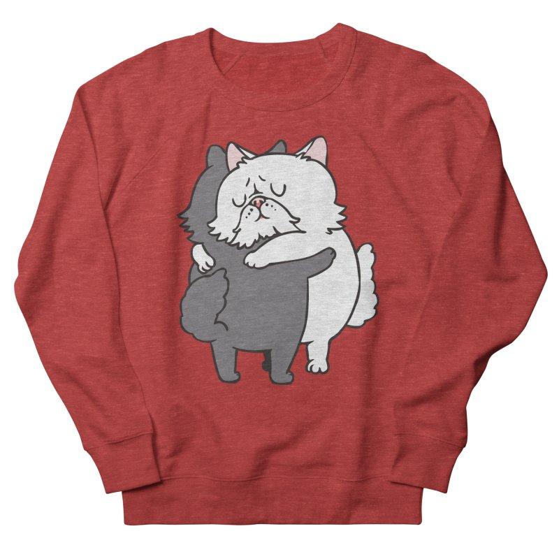Persian Cat hugs Men's French Terry Sweatshirt by huebucket's Artist Shop