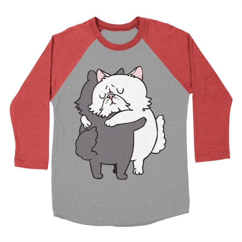 Persian Cat hugs Women's Baseball Triblend Longsleeve T-Shirt by huebucket's Artist Shop
