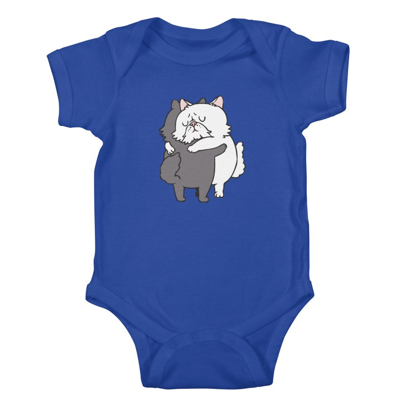 Persian Cat hugs Kids Baby Bodysuit by huebucket's Artist Shop