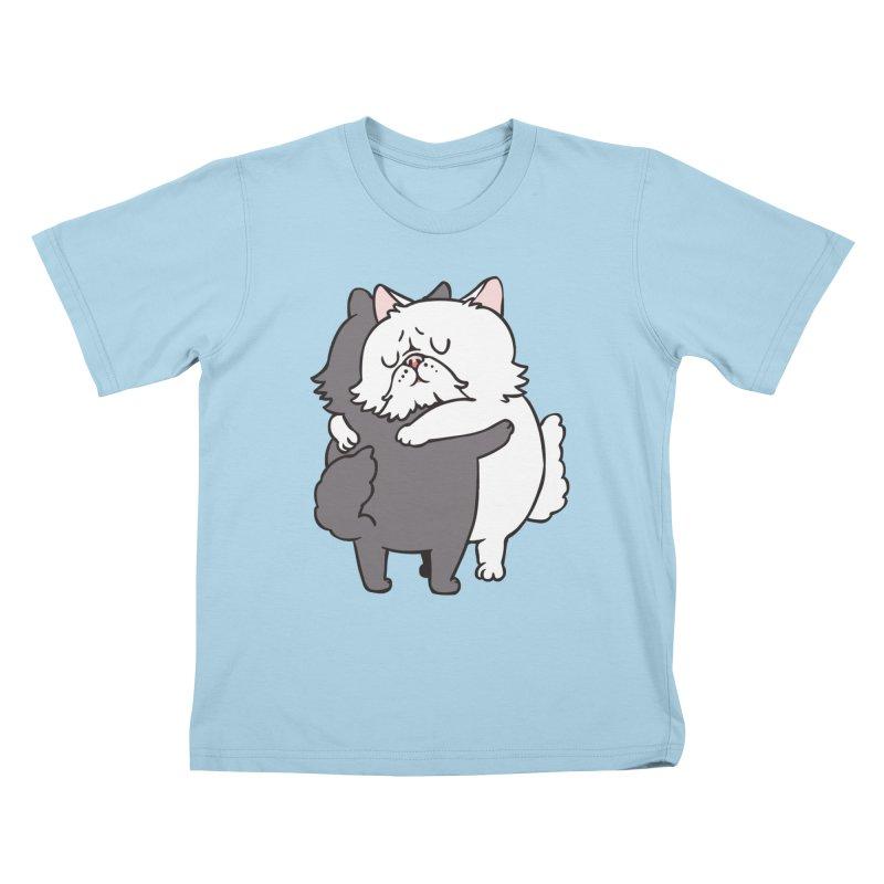 Persian Cat hugs Kids T-Shirt by huebucket's Artist Shop