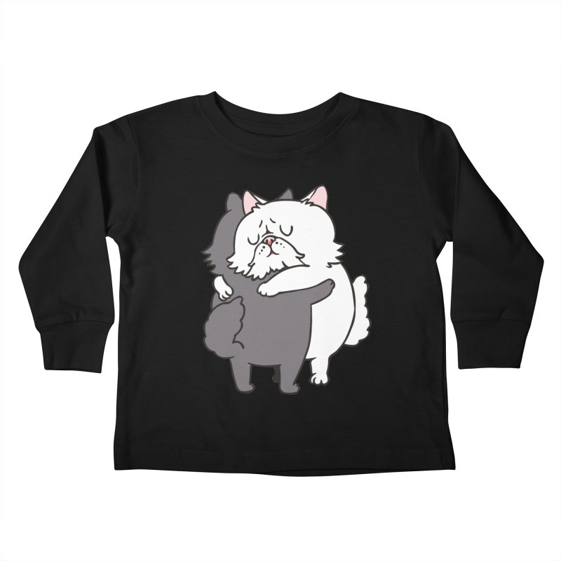 Persian Cat hugs Kids Toddler Longsleeve T-Shirt by huebucket's Artist Shop