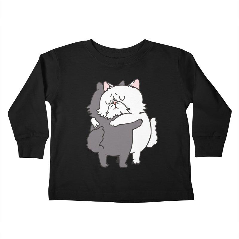 Persian Cat hugs Kids Toddler Longsleeve T-Shirt by huebucket's Artist Shop