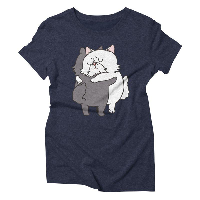 Persian Cat hugs Women's Triblend T-Shirt by huebucket's Artist Shop