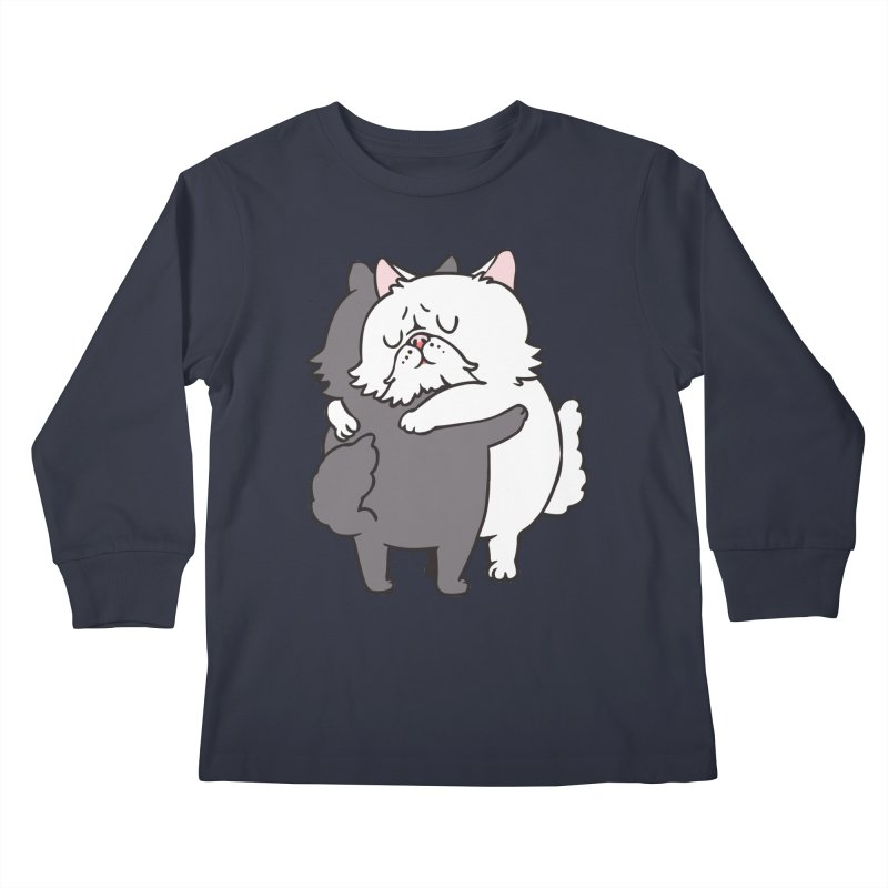 Persian Cat hugs Kids Longsleeve T-Shirt by huebucket's Artist Shop