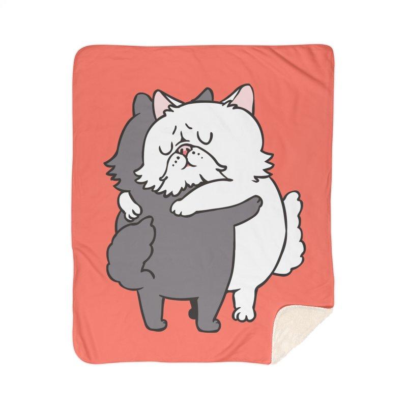 Persian Cat hugs Home Sherpa Blanket Blanket by huebucket's Artist Shop