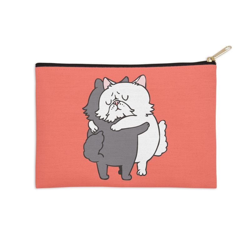 Persian Cat hugs Accessories Zip Pouch by huebucket's Artist Shop