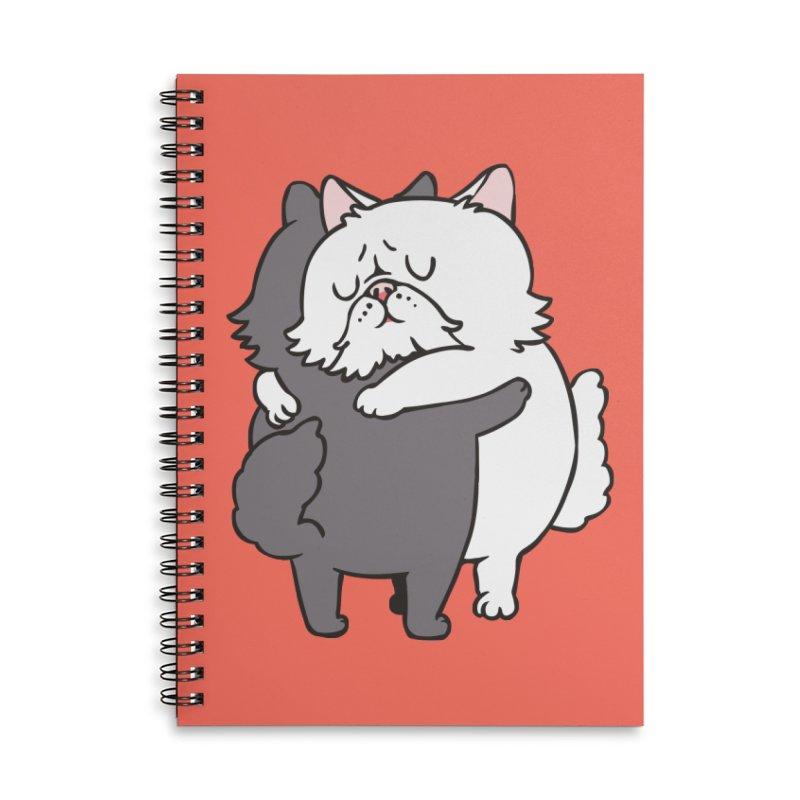 Persian Cat hugs Accessories Lined Spiral Notebook by huebucket's Artist Shop