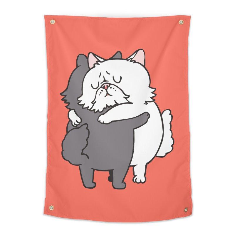 Persian Cat hugs Home Tapestry by huebucket's Artist Shop