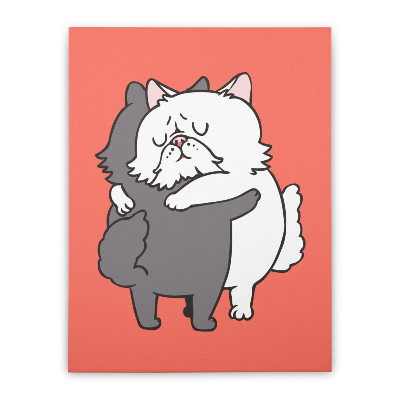 Persian Cat hugs Home Stretched Canvas by huebucket's Artist Shop