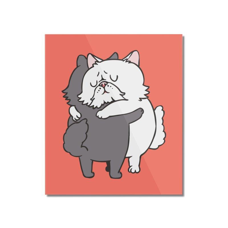 Persian Cat hugs Home Mounted Acrylic Print by huebucket's Artist Shop