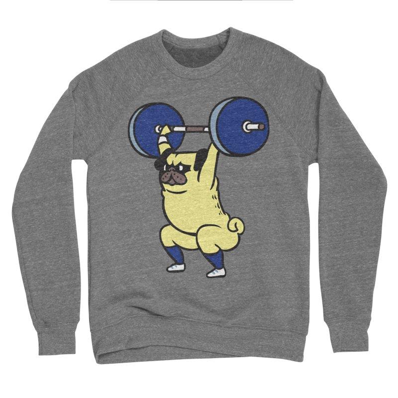 The snatch weightlifting Pug Men's Sponge Fleece Sweatshirt by huebucket's Artist Shop