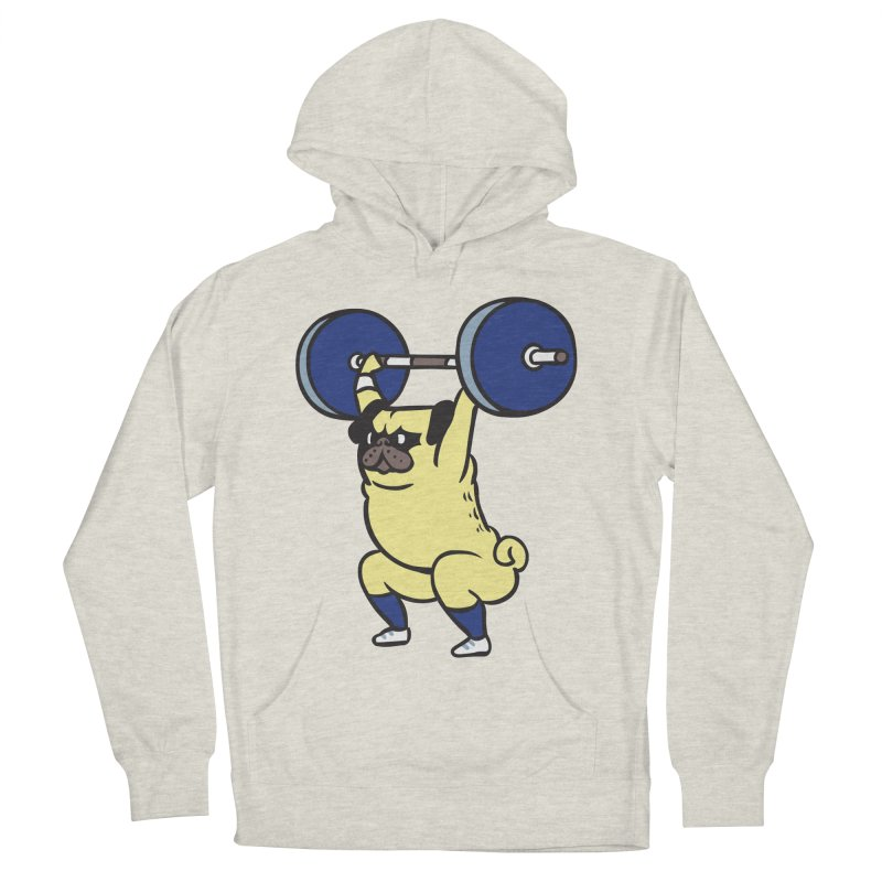 The snatch weightlifting Pug Men's French Terry Pullover Hoody by huebucket's Artist Shop