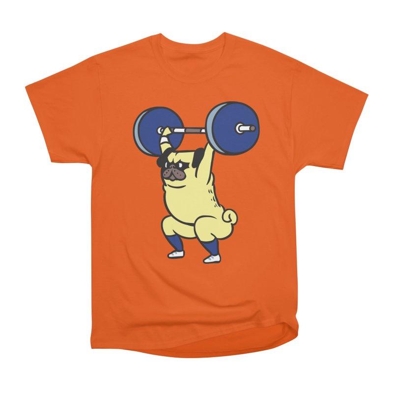 The snatch weightlifting Pug Women's Heavyweight Unisex T-Shirt by huebucket's Artist Shop