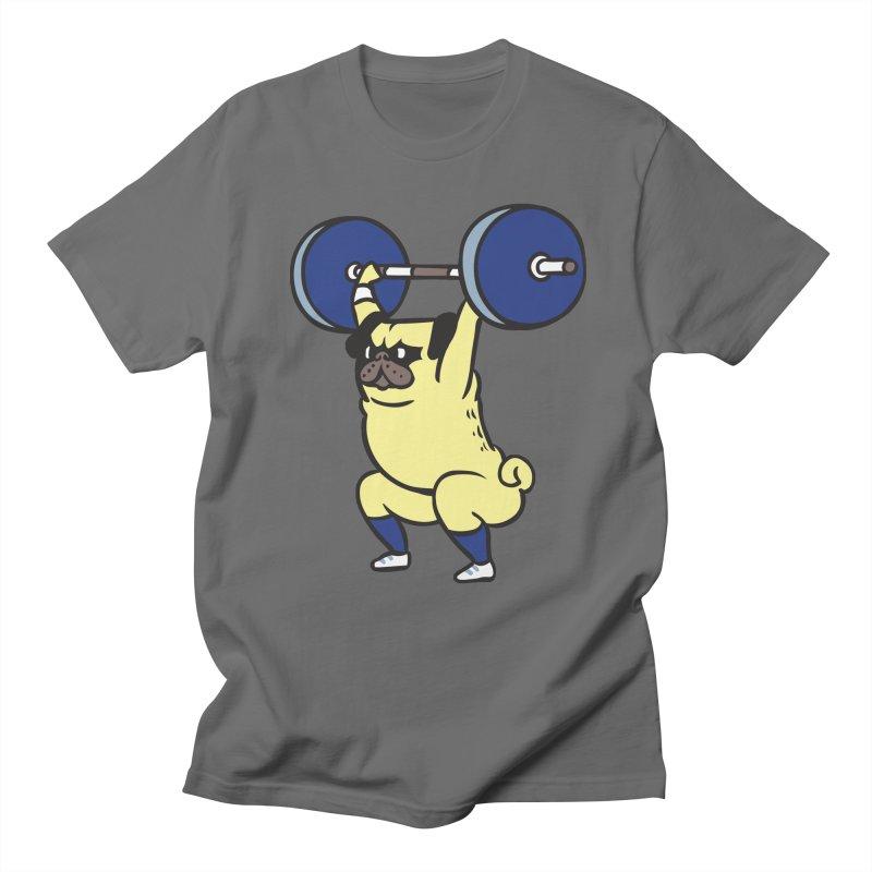 The snatch weightlifting Pug Women's Regular Unisex T-Shirt by huebucket's Artist Shop