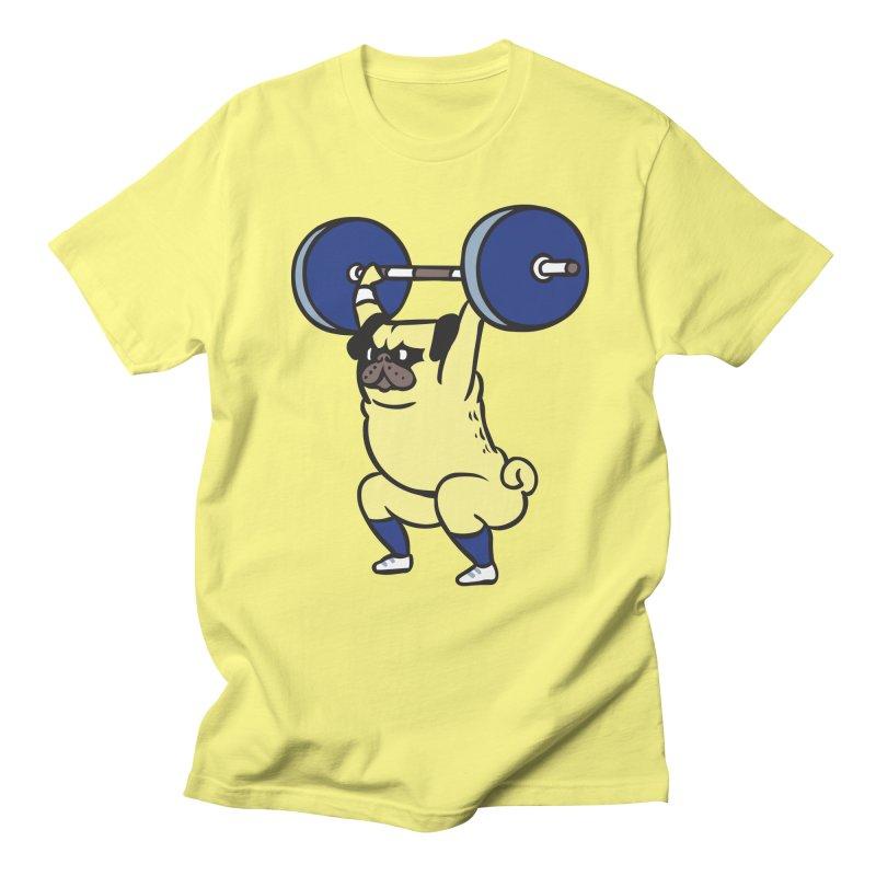 The snatch weightlifting Pug Men's Regular T-Shirt by huebucket's Artist Shop