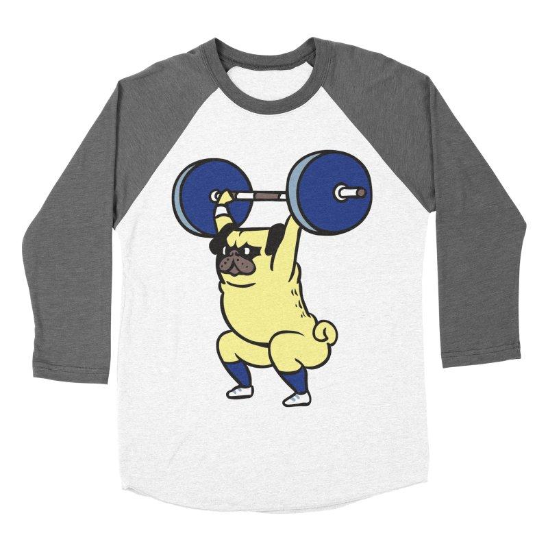 The snatch weightlifting Pug Women's Baseball Triblend Longsleeve T-Shirt by huebucket's Artist Shop