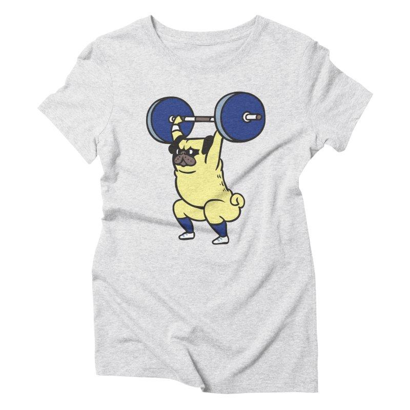 The snatch weightlifting Pug Women's Triblend T-Shirt by huebucket's Artist Shop