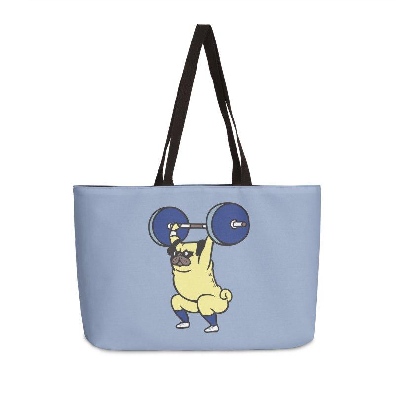 The snatch weightlifting Pug Accessories Weekender Bag Bag by huebucket's Artist Shop