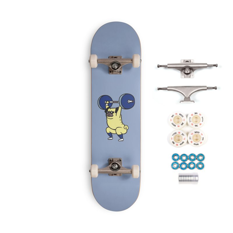 The snatch weightlifting Pug Accessories Complete - Premium Skateboard by huebucket's Artist Shop