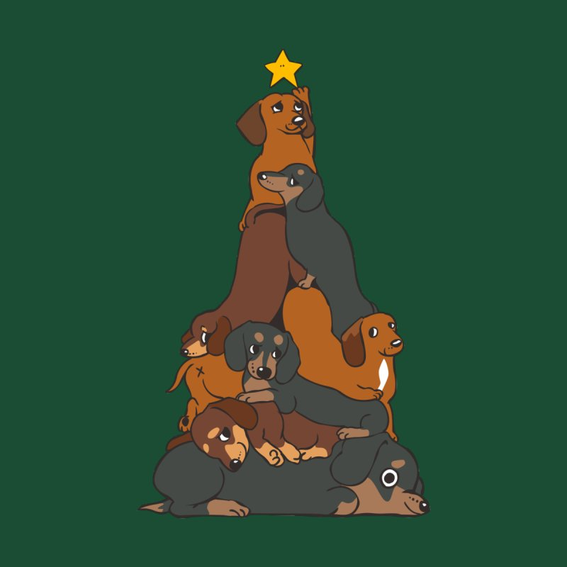 Christmas Tree Dachshund Men's Tank by huebucket's Artist Shop