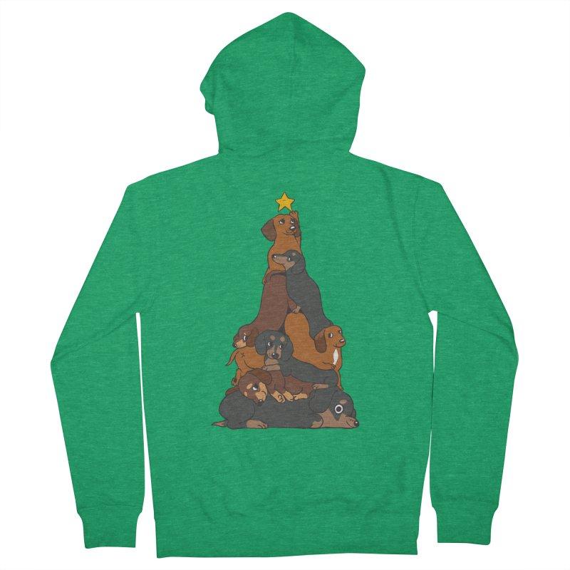 Christmas Tree Dachshund Men's Zip-Up Hoody by huebucket's Artist Shop
