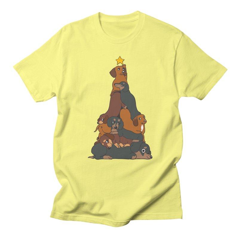Christmas Tree Dachshund Women's Regular Unisex T-Shirt by huebucket's Artist Shop