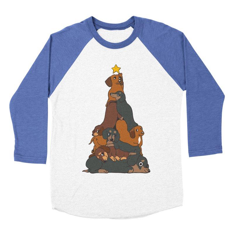 Christmas Tree Dachshund Women's Baseball Triblend Longsleeve T-Shirt by huebucket's Artist Shop