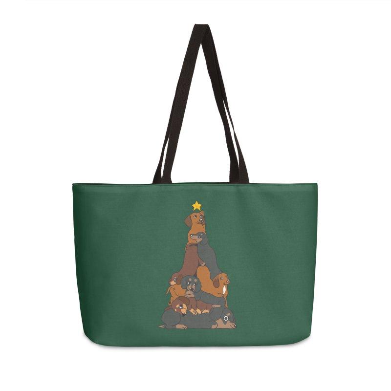 Christmas Tree Dachshund Accessories Weekender Bag Bag by huebucket's Artist Shop