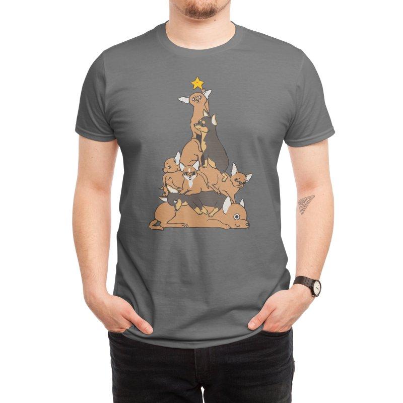 Christmas Tree Chihuahua Men's T-Shirt by huebucket's Artist Shop
